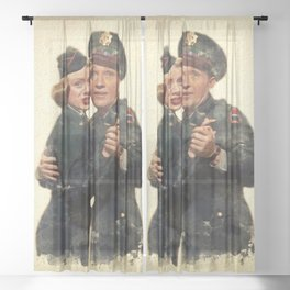 B&B ...Back in the Army (White Christmas) Sheer Curtain