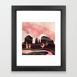 Rose Desert Framed Art Print