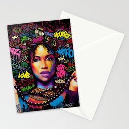 HAIR AFRO--STREET ART Stationery Cards