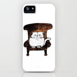 Staring Cat (Orange) iPhone Case