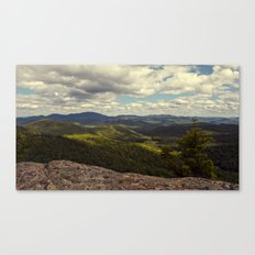 view from a mountaintop Canvas Print
