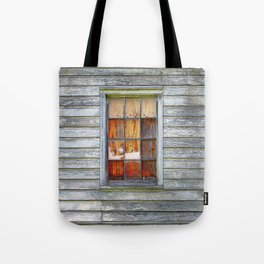 Barn Window with Plywood Tote Bag