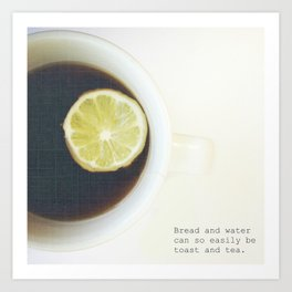 Toast & Tea  Art Print