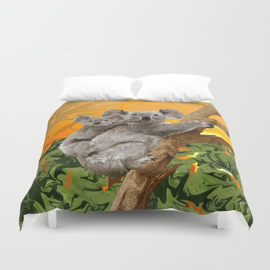 Koala Sunset Duvet Cover