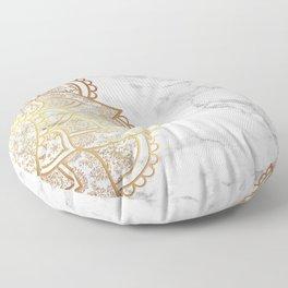 Mandala - Gold & Marble Floor Pillow