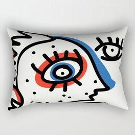Graffiti French Art Summer Street Rectangular Pillow
