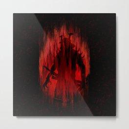 Red Samurai Metal Print