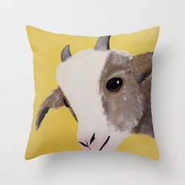 Original Painting - Farm Friends - Baby Goat Throw Pillow