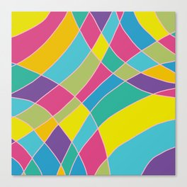 80s Abstract Painting #1 Canvas Print