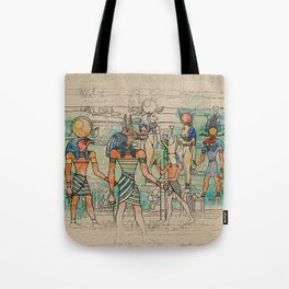Egyptian Gods on canvas Tote Bag