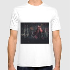 Little Miss Red Riding Hood Mens Fitted Tee White MEDIUM