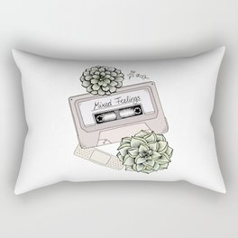 Mixed Feelings Rectangular Pillow