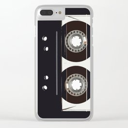retro old tapes Clear iPhone Case