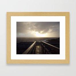 Bridge to the sea Framed Art Print