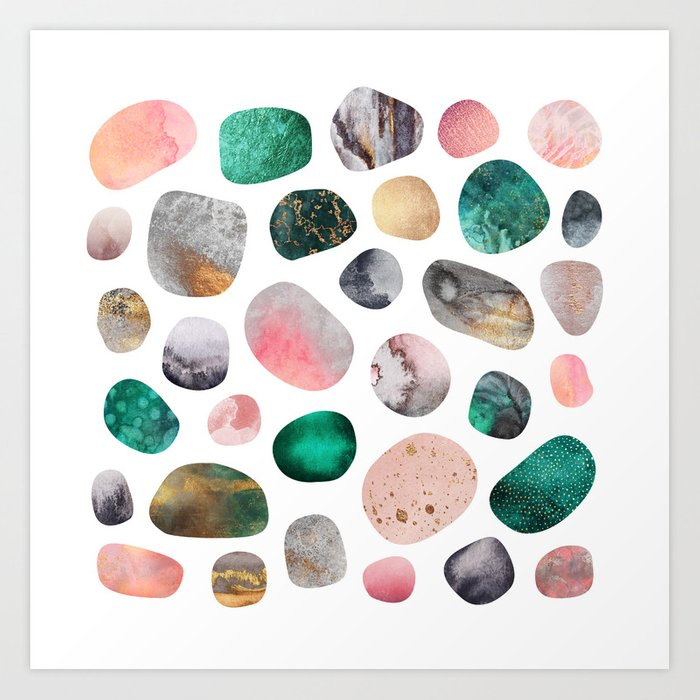 Pretty Pebbles Art Print