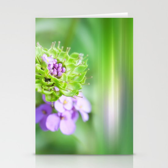 VERDE - Abstract green flower Stationery Cards