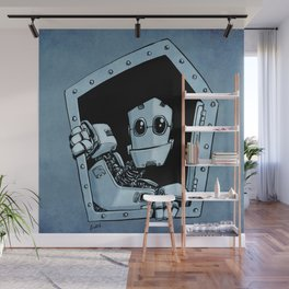Knock, knock Wall Mural