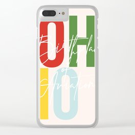 "Ohio ""Birthplace of Aviation"" Color Clear iPhone Case"