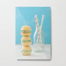 Freshly Baked Whoopie Pies and straws Metal Print