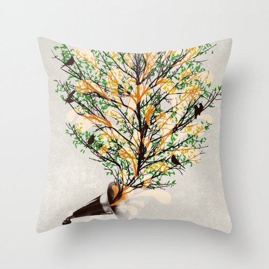 Sound of Nature Throw Pillow