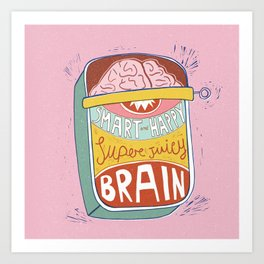 Canned Brain Art Print