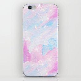 Modern pastel pink teal hand painted watercolor pattern iPhone Skin