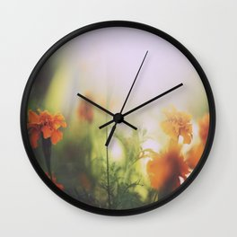 Marigolds in Ubud Wall Clock