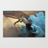 rebel Canvas Prints featuring Rebel by Dave Greco