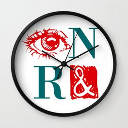 Randian Rebus Wall Clock