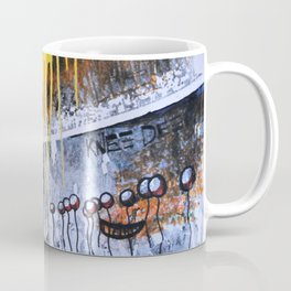 Mixed Media Art Yellow Rain Coffee Mug