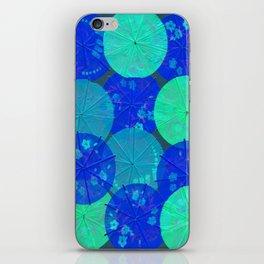 Blue Umbrellas iPhone Skin