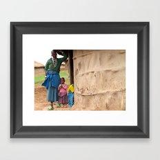 Village Life Framed Art Print