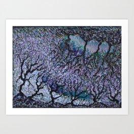 Olive Tree Fields Art Print