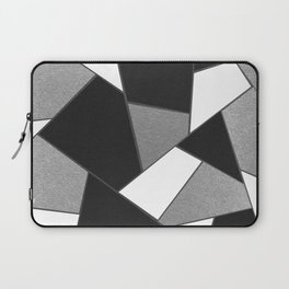 Silver Gray Black White Geometric Glam #1 #geo #decor #art #society6 Laptop Sleeve