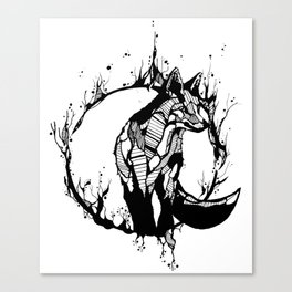 This Fox is Flame Canvas Print
