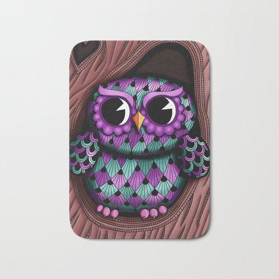 Owl Tree Bath Mat