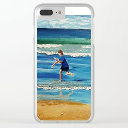 You throw the sand against the wind Clear iPhone Case