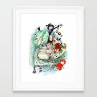 ghibli Framed Art Prints featuring Ghibli by Archiri Usagi