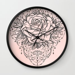 Night Rose Wall Clock