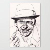 frank Canvas Prints featuring Frank by Paul Nelson-Esch Art