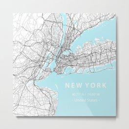 New York City Map Metal Print