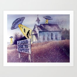 Closed on Sundays Art Print