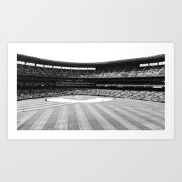 Safeco Field in Seattle Washington - Mariners baseball stadium in black and white Art Print