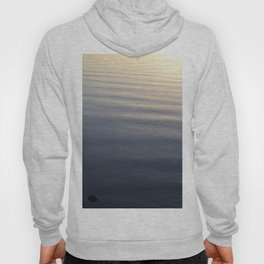 One Rock Waits for Waves in the Morning Light Hoody