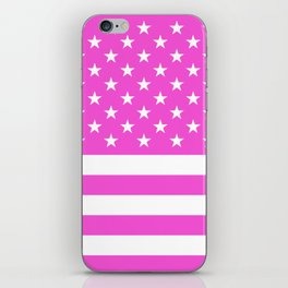 U.S. Flag: Pink iPhone Skin