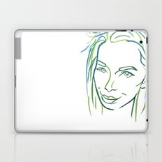 Green Portrait Laptop & iPad Skin