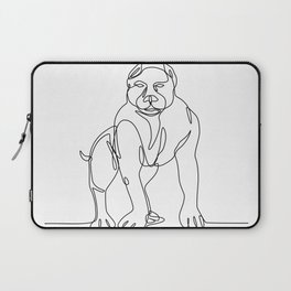 American Bully Continuous Line Laptop Sleeve