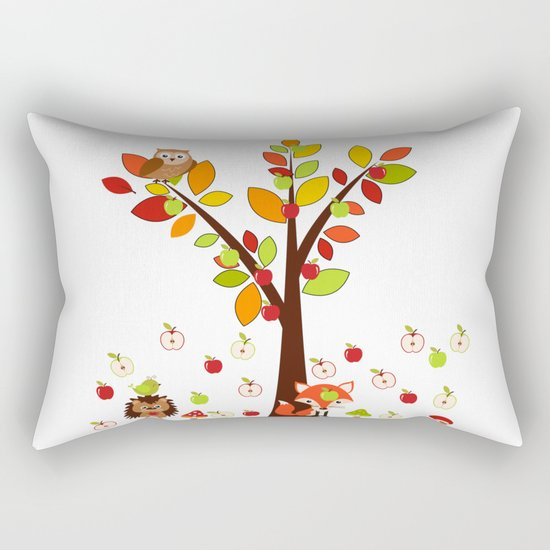 Rain Apples Rectangular Pillow