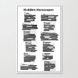 Hidden Horoscopes Canvas Print