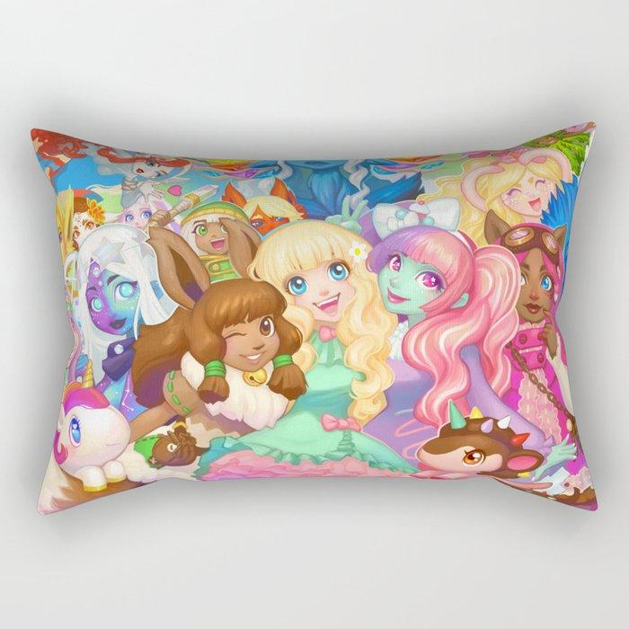 Dollightful Banner Art 2018 Rectangular Pillow